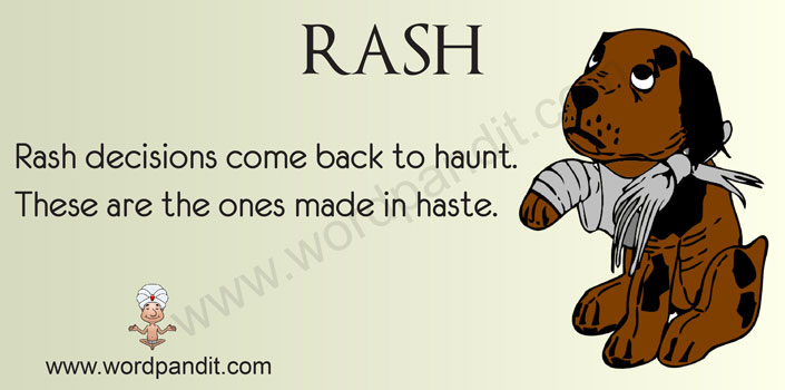 picture vocabulary for rash