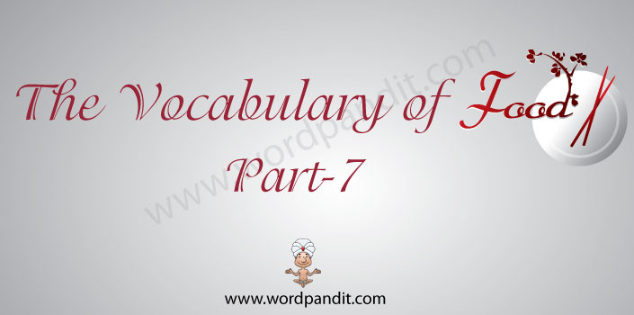 the vocabulary of food