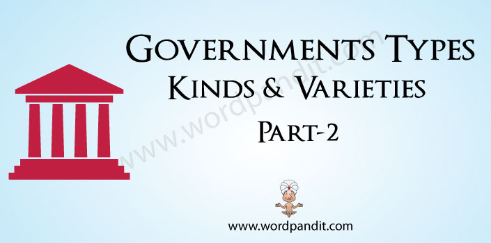 words related to the different types of governments