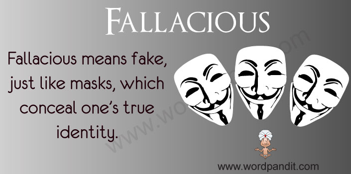 Meaning of Fallacious