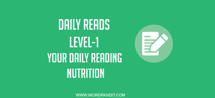 Daily Reads-5 (Level-1)