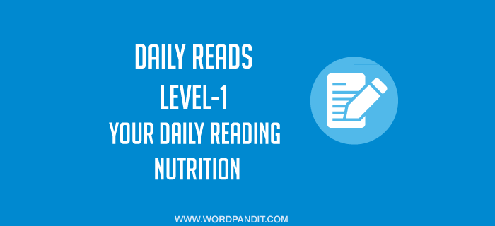 Daily Reads-8 (Level-1)
